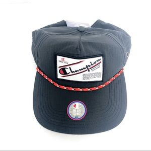 Champion Black Adjustable Retro Truck Cap Hat